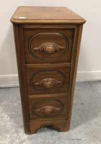 Vintage Victorian Style  Three Drawer End Table
