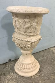 Ceramic Painted Grecian Urn Planter