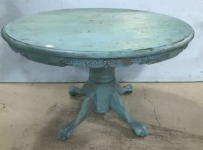 Painted Round Pedestal Dinning Table