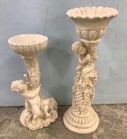 Two Ceramic Figural Planters