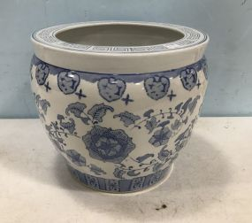 Modern Chinese Blue and White Planter