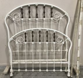 Vintage Iron and Brass Ornate Bed