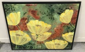 Large Painting of Flowers