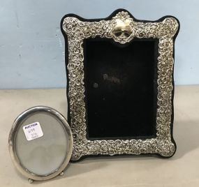 Ornate Shadow Box Frame and Small Oval Frame