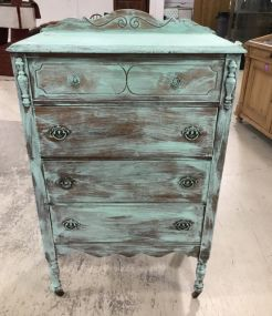Painted Depression Era Chest of Drawers