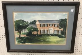 Watercolor of Home by Cappe Jeffreys