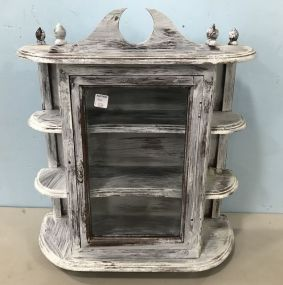 Painted White Small Display Cabinet