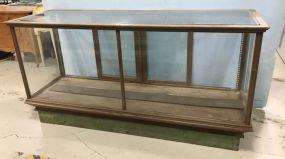 Vintage Oak Glass Display Case