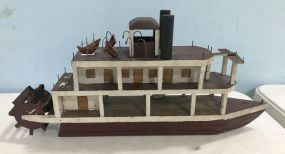 Vintage Hand Crafted Paddle Wheeler