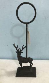 Reproduction Metal Deer Door Stop