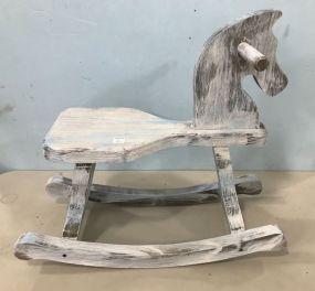 Painted Wood Child's Rocking Hose