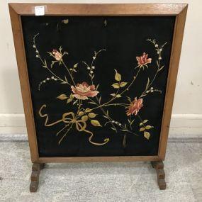 Vintage Wood Firescreen Stand