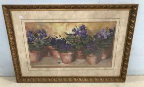 Gold Gilt Framed Flower Print