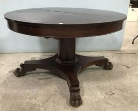 Antique Round Claw Foot Dinning Table