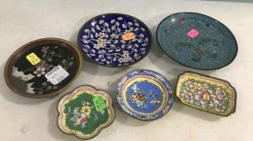 Cloisonne Dishes and Pastel Dishes
