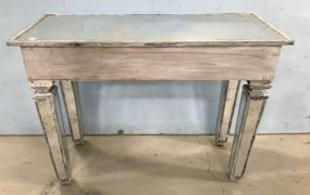 Painted White Mirrored Wall Console Table