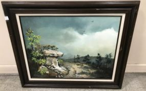 Landscape Painting on Canvas Signed