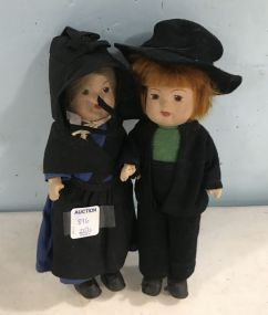 Amish Man & Lady Doll