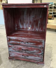 Modern Painted Entertainment Cabinet