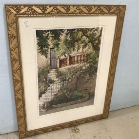 Framed Stairway Print