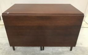 Antique Reproduction Drop Leaf Mahogany Dinning Table by Craftique