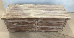 Vintage Hand Painted Cedar Trunk