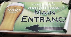 Harp Lager Main Entrance Poster