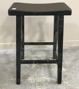 Painted Primitive Style Bar Stool