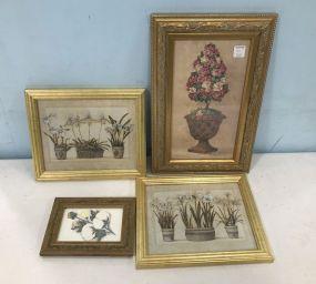 Four Framed Decor Prints