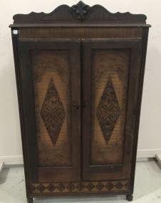 1930's-40's Depression Era Double Door Wardrobe
