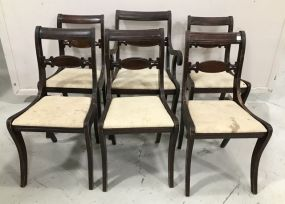 Six Vintage Sheraton Style Dinning Chairs