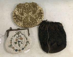 Three Vintage Beaded Purses