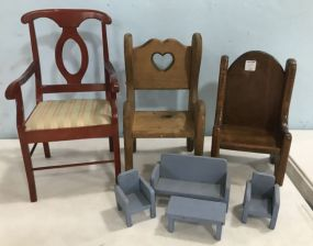 Group of Doll Furniture