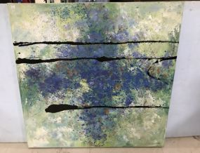 Large Abstract Dip Painting Canvas