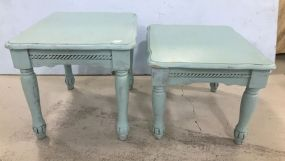 Two Painted Modern Lamp Tables
