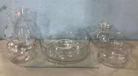 Clear Glass Serving Pieces