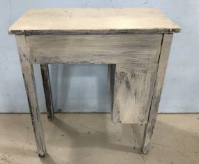 White Painted Wall Table