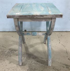 Painted Small Accent Table