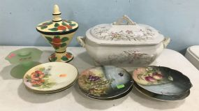 Tureen, Jar, and Collectible Plates