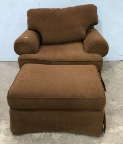 Large Craftmaster Upholstered Chair and Ottoman