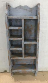 Wood Painted Wall Display Shelf