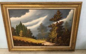 Landscape Oil Painting Signed
