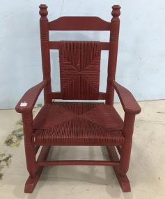 Painted Red Child's Rocker