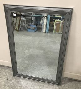 Painted Silver Modern Wall Mirror