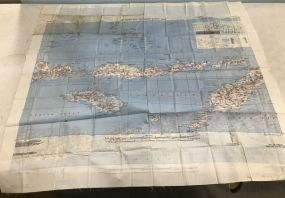 AAF Cloth Map Southwest Pacific Area