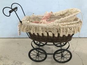 Vintage Style Child's Doll Stroller