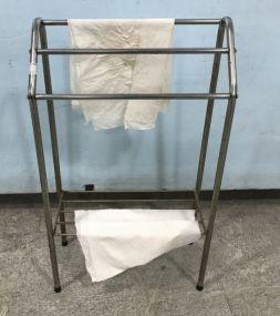 Small Vintage Metal Towel Rack