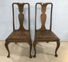 Pair of Antique Queen Anne Side Chairs