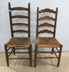 Two Ladder Back Side Chairs