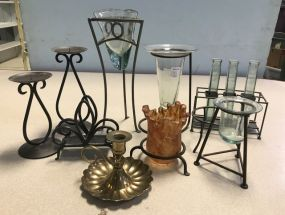 Group of Assorted Decorative Candle Holders